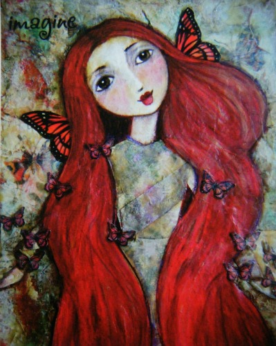 Ella - the butterfly faerie by Theresa MacNaughton