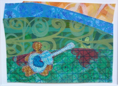 """Sun, Love, and Music"" Original painting by Chai Wolfman"