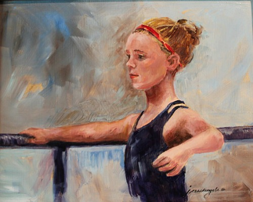 child ballet dancer in practice - by Joanne Massingale