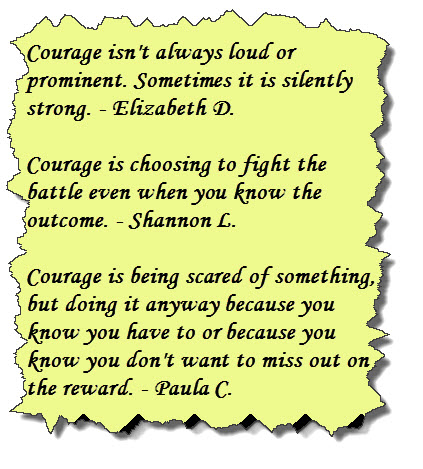 Courage is 2