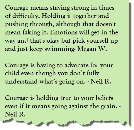 Courage is 3